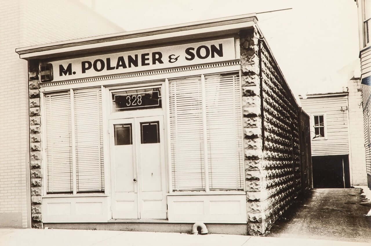 Vintage photo of old Polaner building.